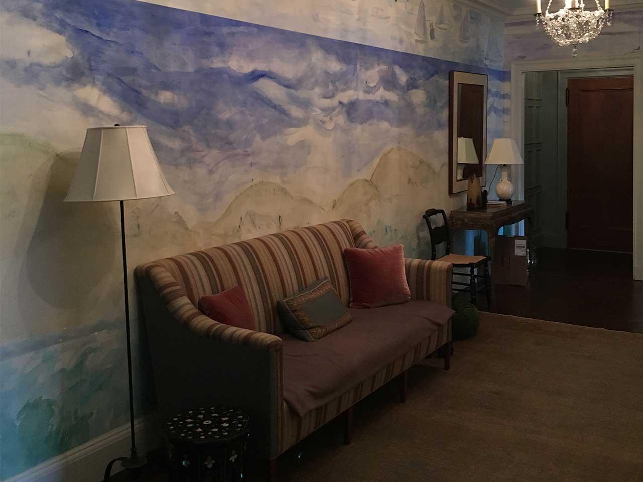 wallpapering-room-landscape